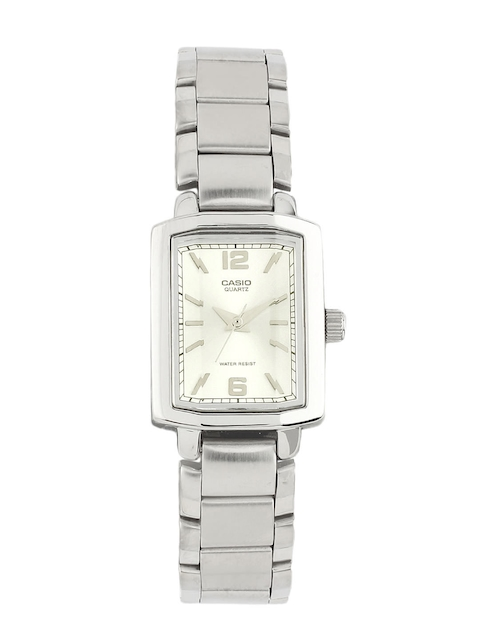 Casio Enticer Women Silver Analogue Watches (SH49) LTP-1233D-7ADF  available at myntra for Rs.2065