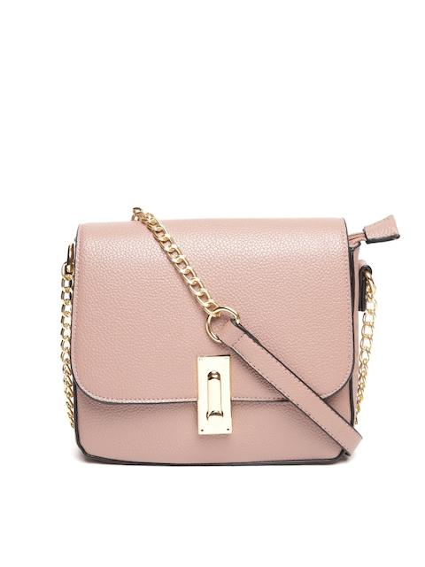 DressBerry Dusty Pink Solid Sling Bag