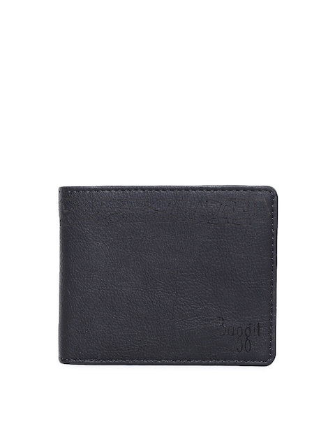 Baggit Men Black Solid Two Fold Wallet
