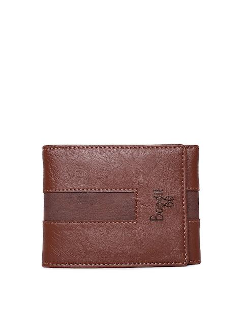 Baggit Men Brown Solid Three Fold Wallet