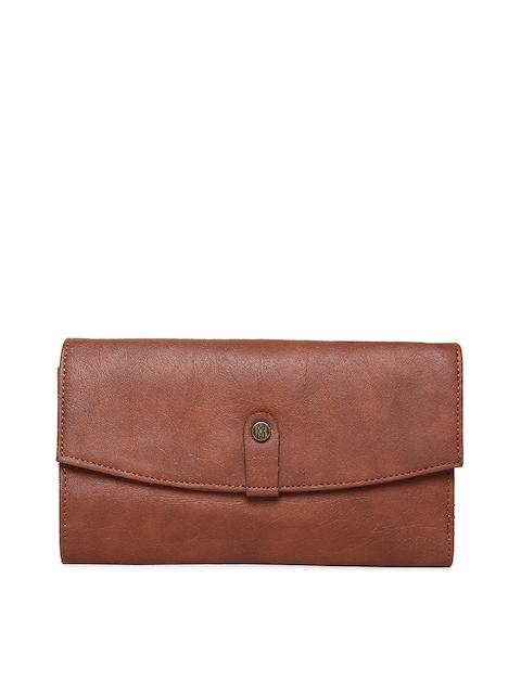 Baggit Women Tan Solid Three Fold Wallet