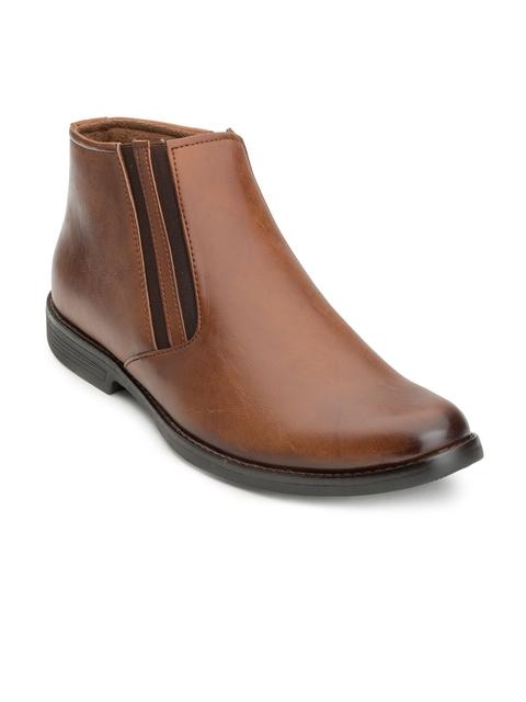 Escaro Men Tan Formal Boots