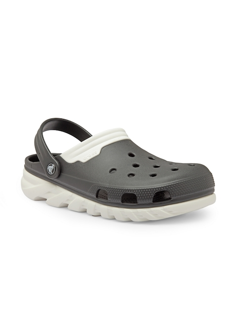 Crocs Men Grey Duet Max Clogs