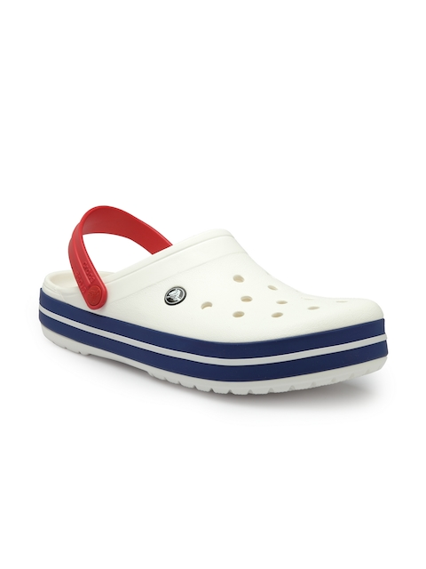 Crocs Men White Crocband Clogs