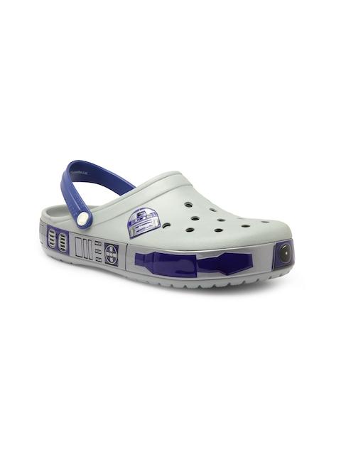 Crocs Men Grey & Blue CB Star Wars R2D2 Clogs