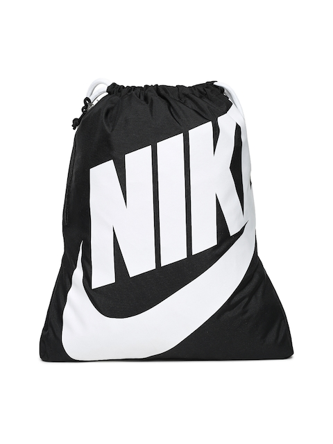 Nike Unisex Black & White Typography Gym Sack