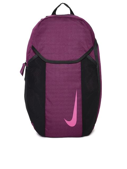 Nike Unisex Burgundy & Black NK ACDMY BKPK 2.0 Brand Logo Backpack