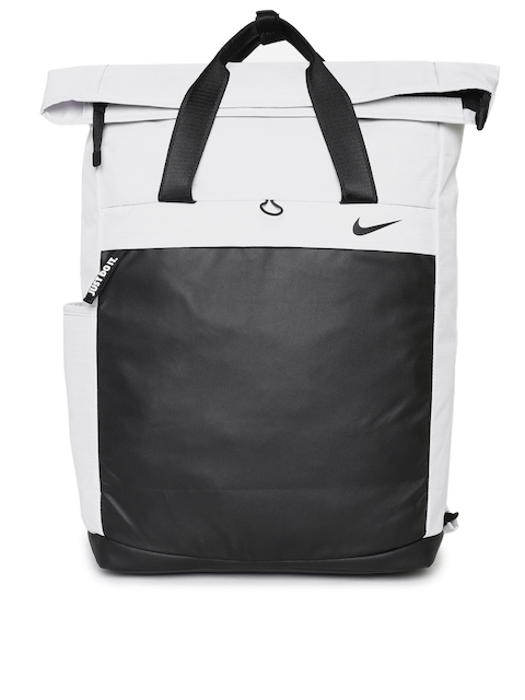 Nike Women Black & Grey Colourblocked Backpack
