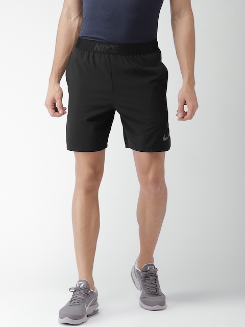 Nike Men Black AS M FLX VENT MAX 2.0 Solid Standard Fit Sports Shorts