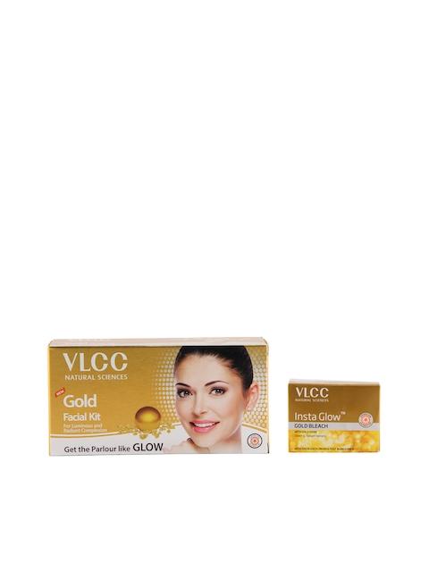 VLCC Gold Facial Kit & Insta Glow Bleach Combo