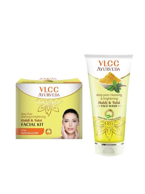 VLCC Ayurveda Haldi Tulsi Facial Kit & Face Wash Combo