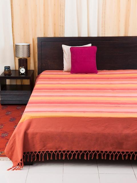 Fabindia Multicoloured Woven Deign Single Bed Cover