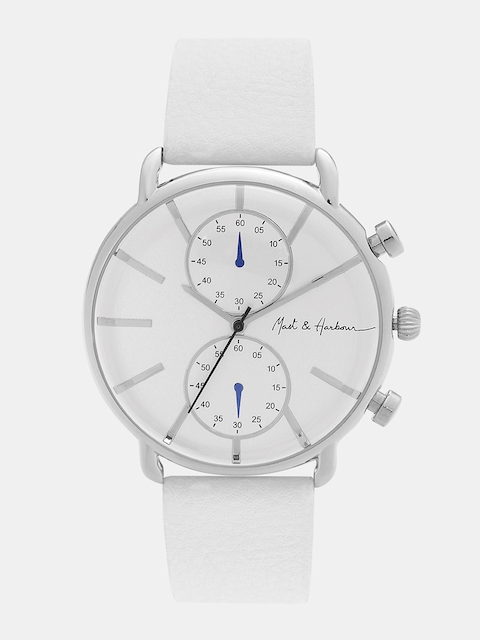 Mast & Harbour Unisex Silver-Toned Analogue Watch MFB-PN-LW3777