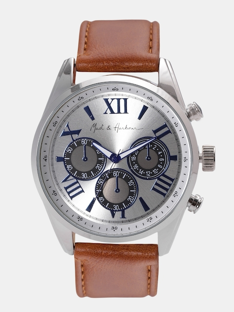 Mast & Harbour Unisex Silver-Toned Analogue Watch MFB-PN-LW3732