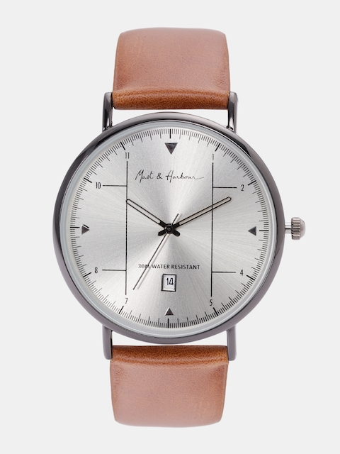 Mast & Harbour Unisex Silver-Toned Analogue Watch MFB-PN-LW5943A