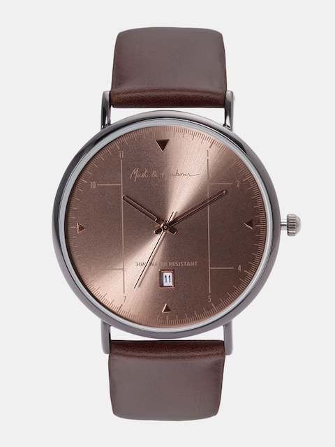 Mast & Harbour Unisex Brown Analogue Watch MFB-PN-LW5943A