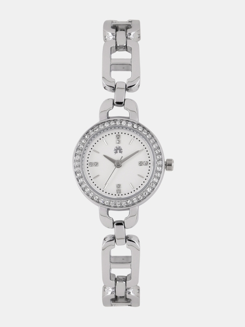 DressBerry Women White Embellished Analogue Watch MFB-PN-WTH-Ak0018L