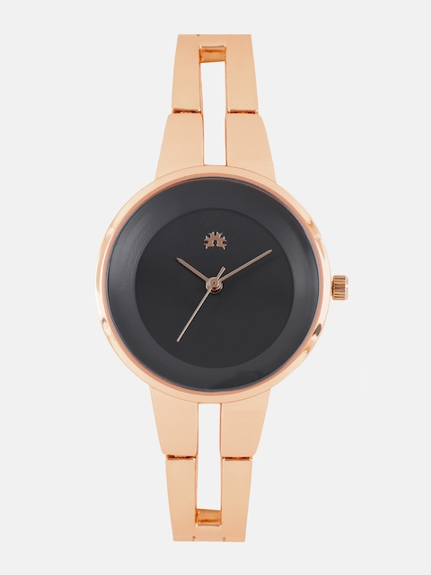 Anouk Women Black & Rose Gold Analogue Watch MFB-PN-WTH-5938