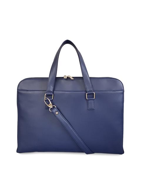 82a460207d1f Toteteca Women Blue Solid Laptop Bag