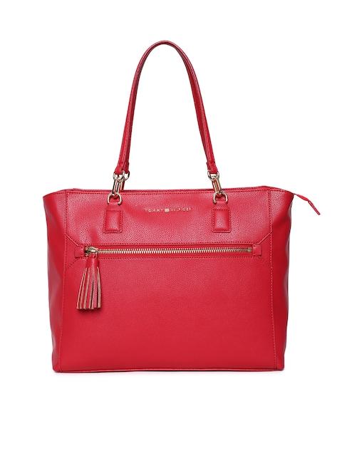 Tommy Hilfiger Red Solid Shoulder Bag