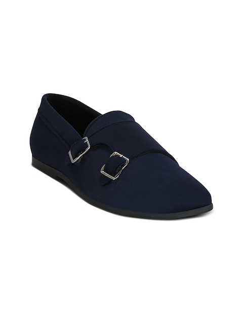 Get Glamr Men Blue Monk Shoes