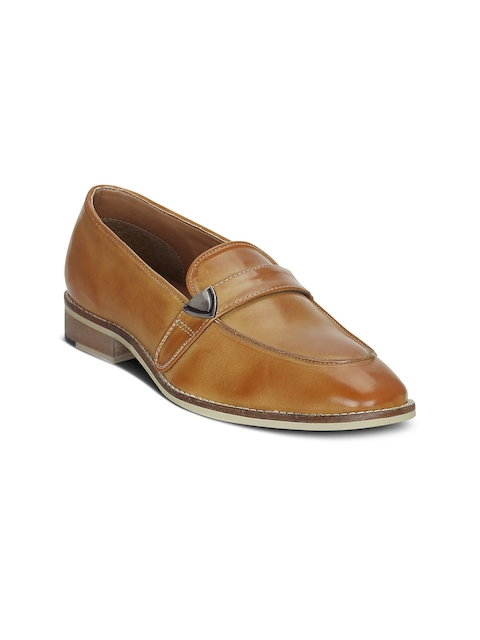 Get Glamr Men Tan-Brown Semi-Formal Slip-Ons