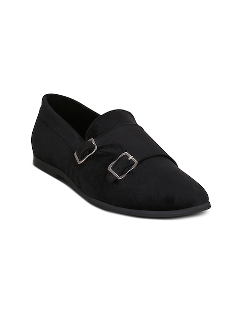 Get Glamr Men Black Monk Shoes