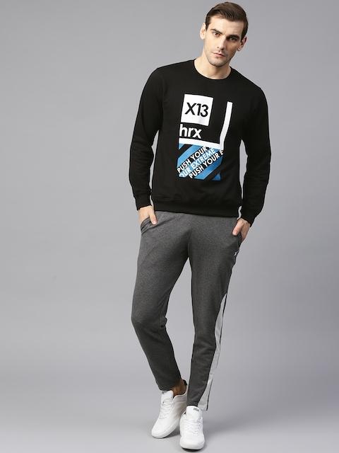 HRX by Hrithik Roshan Men Black Printed Sweatshirt