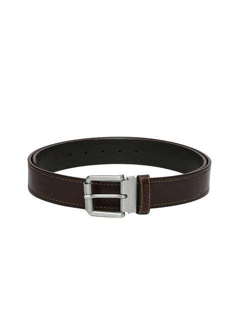 Hidesign Men Black & Brown Solid Belt