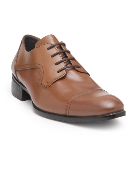 Teakwood Leathers Men Tan Formal Leather Derbys
