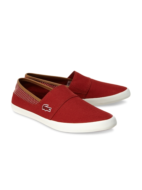 Lacoste Men Red Loafers