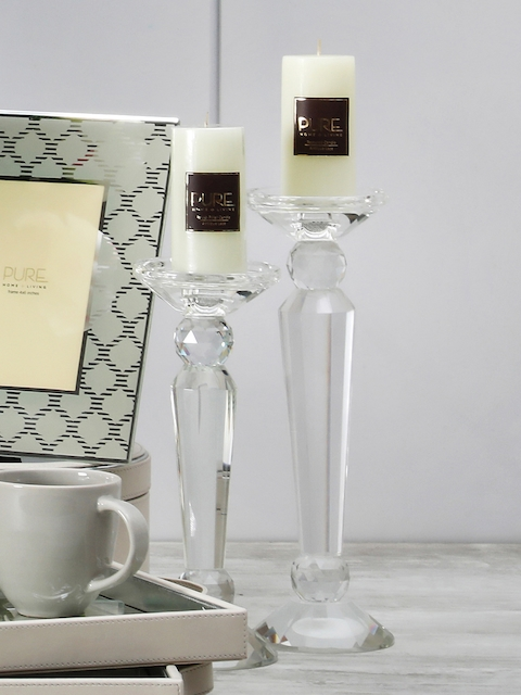 Pure Home and Living Transparent Hurricane Candle Holder