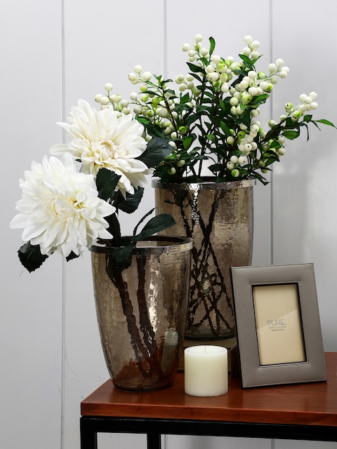 Pure Home and Living Brown Textured Handcrafted Decorative Vase