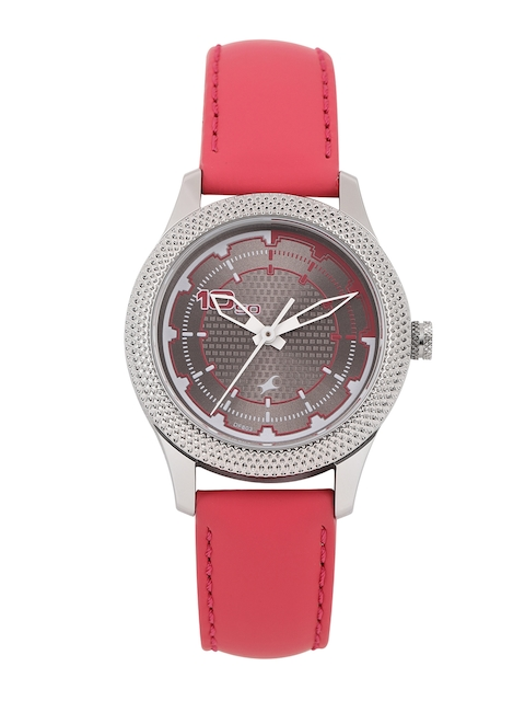 Fastrack Women Grey & Pink Analogue Watch NK6158SL02_OR