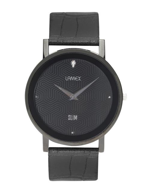LAMEX Men Black Analogue Watch DLX 7053