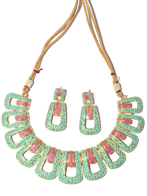 Tistabene Sea Green Metal Gold-Plated Jewellery Set