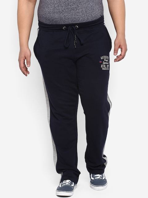 aLL Men Blue Solid Track Pants