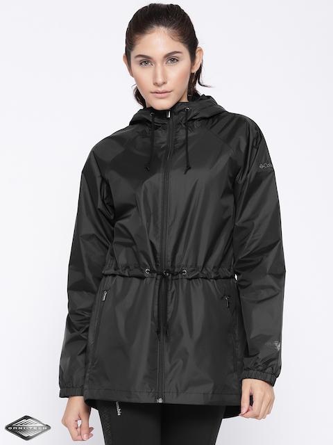 Columbia Black Arcadia Casual Rain Jacket