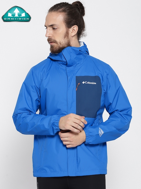 Columbia Blue Summit Sleeker Shell Rain Jacket