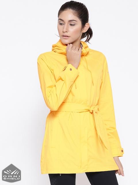 Columbia Yellow Pardon My Trench Rain Jacket
