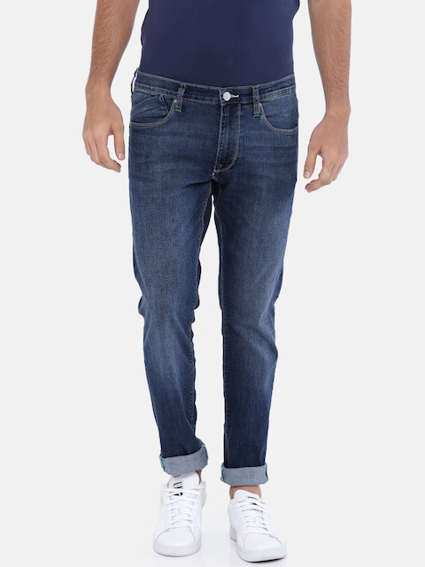 Lee Men Blue Skinny Fit Mid-Rise Clean Look Stretchable Jeans