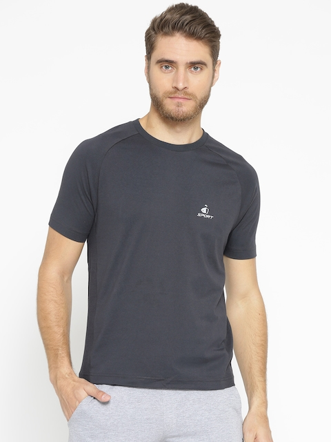 Jockey Sport Performance  Men Charcoal Grey T-shirt SP24