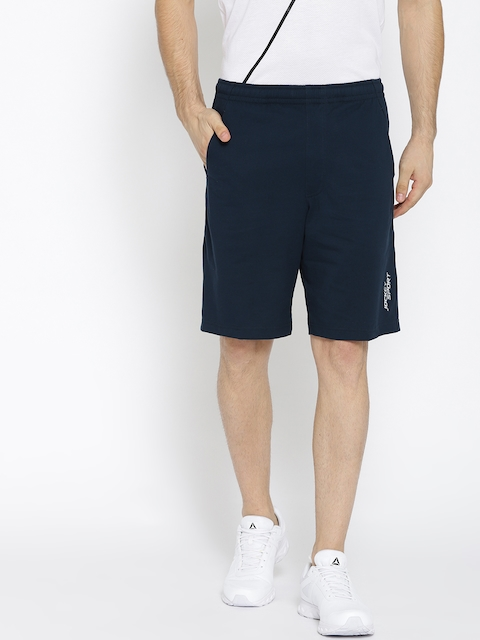 Jockey Men Navy Blue Solid Sport Shorts
