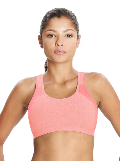 Jockey Active Peach-Coloured Powerback Padded Bra 1380-0105