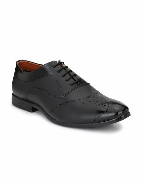 Fentacia Men Black Formal Brogues Shoes