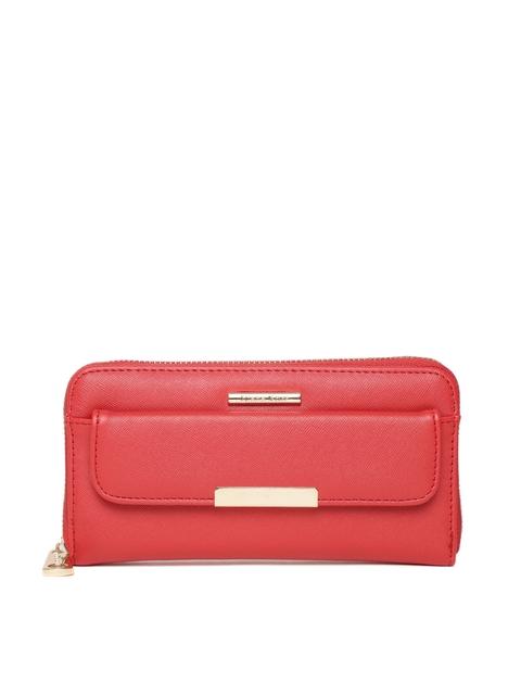 Diana Korr Women Red Solid Zip Around Wallet
