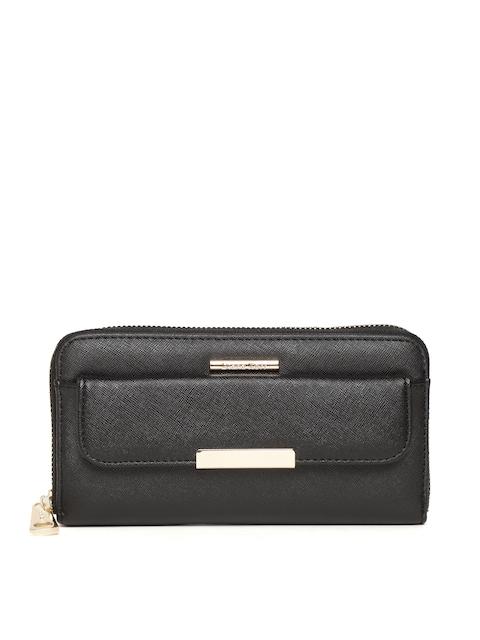 Diana Korr Women Black Solid Zip Around Wallet