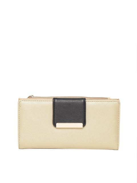 Diana Korr Women Gold-Toned Solid Two Fold Wallet