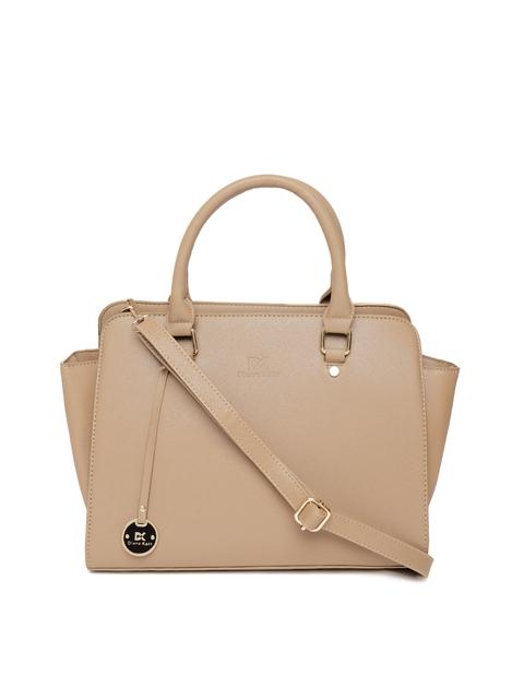 Diana Korr Beige Solid Handheld Bag