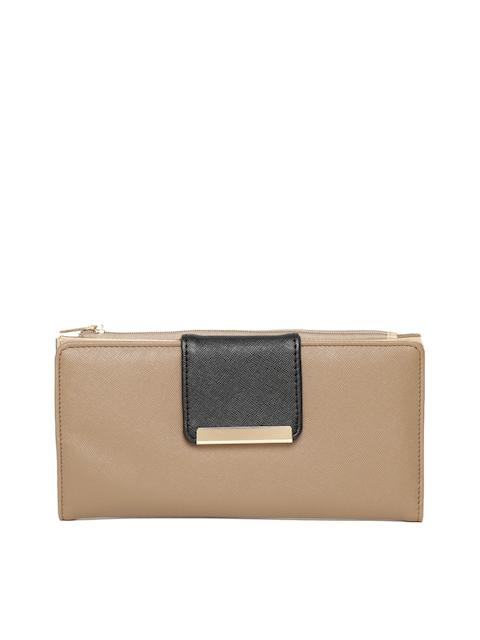 Diana Korr Women Brown Solid Two Fold Wallet